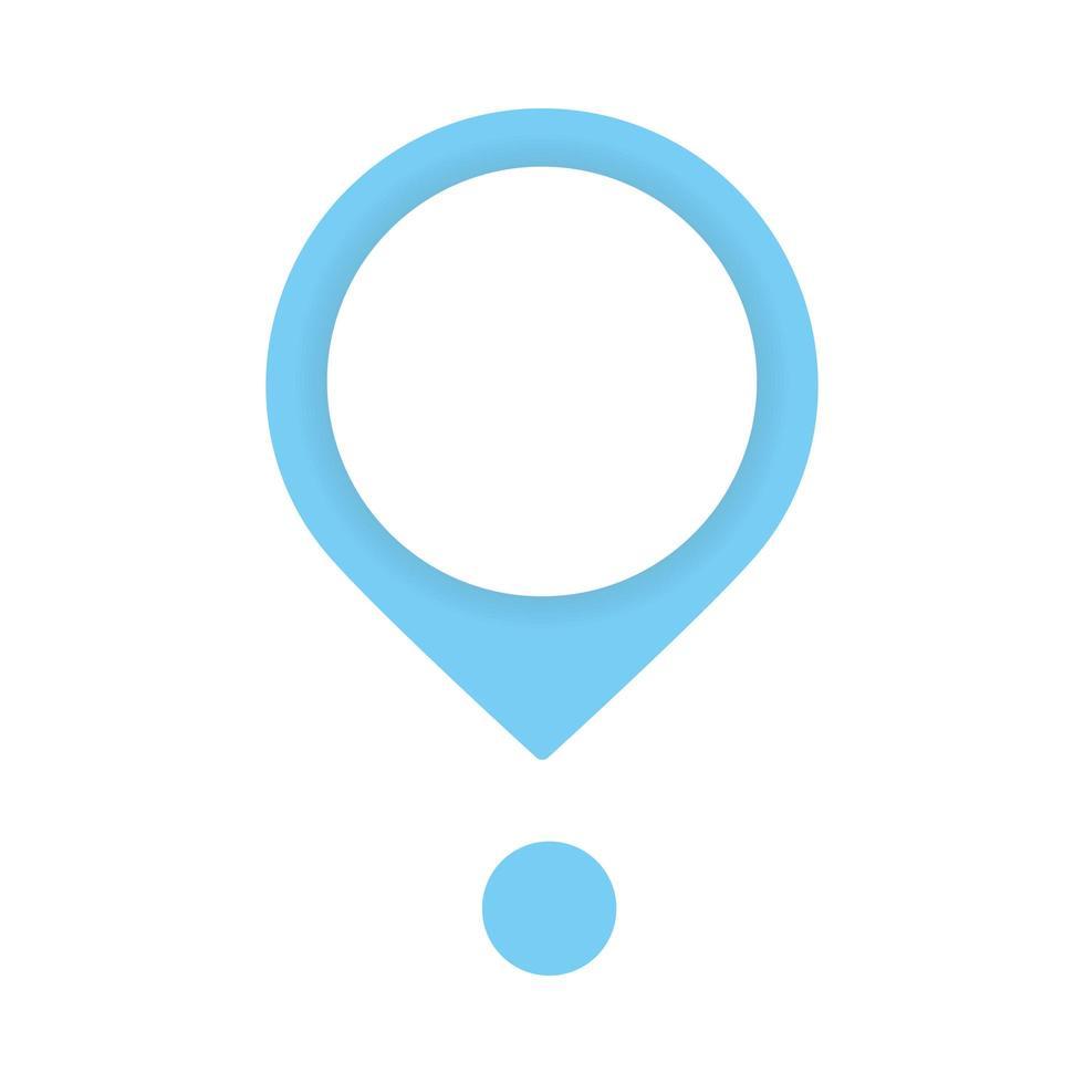 icône de repère de localisation de pointeur de broche vecteur