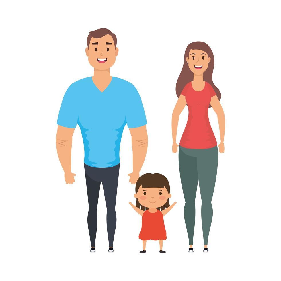 conception de vecteur mère père et fille