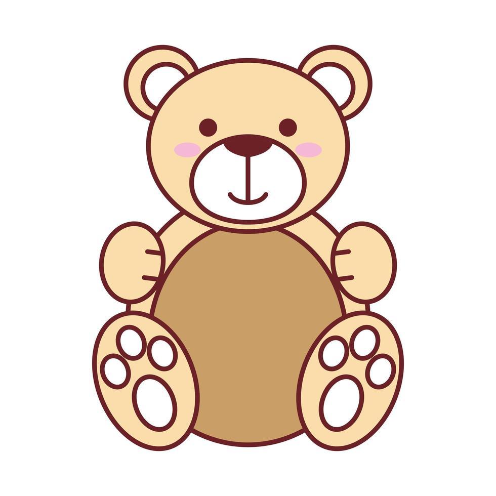 conception de vecteur d'ours en peluche isolé