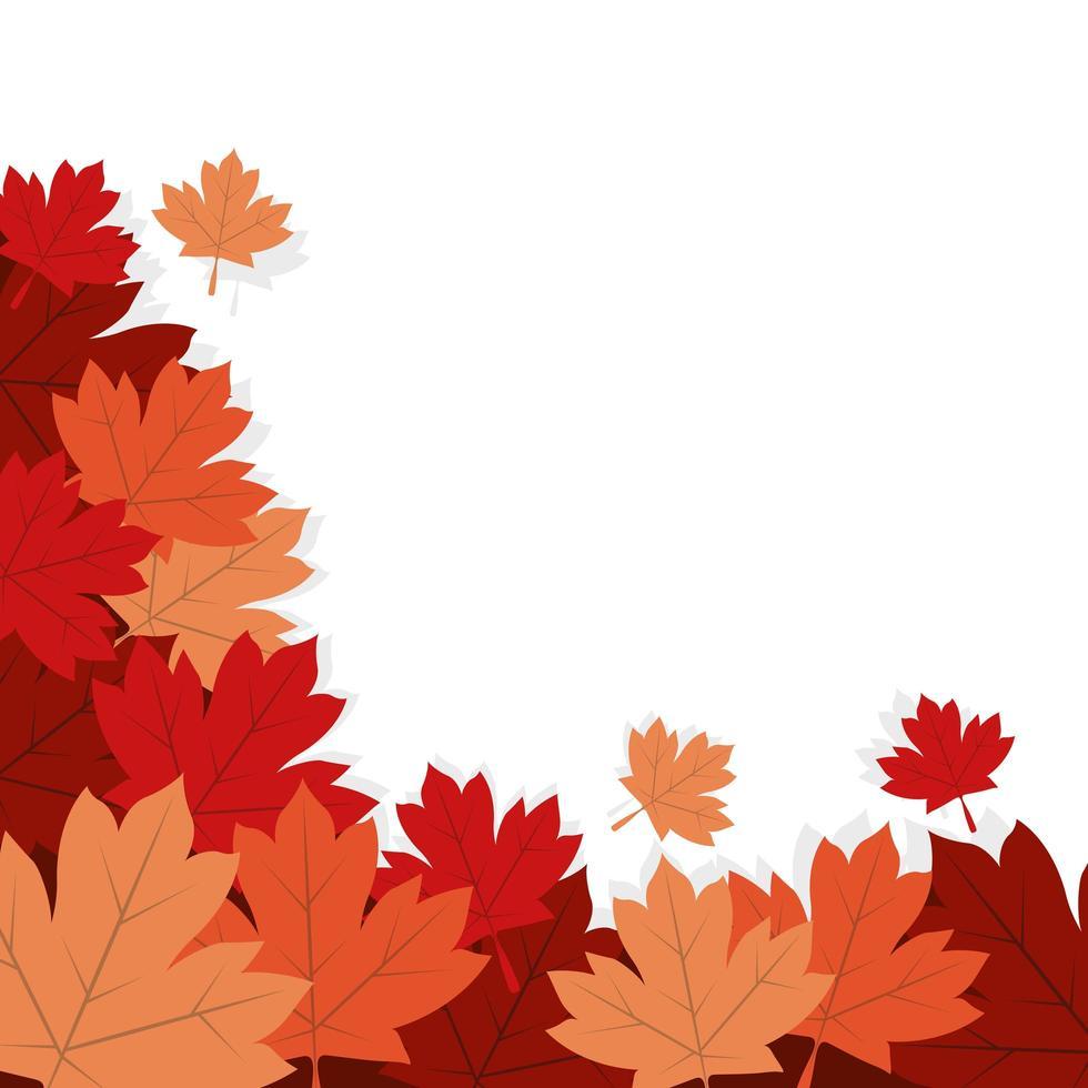 conception de vecteur de feuilles dérable automne