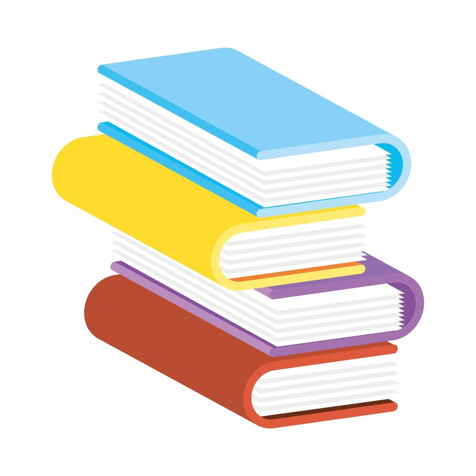 pile de livres colorés vecteur
