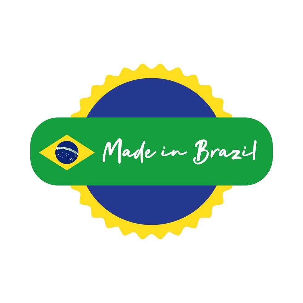 made in brésil bannière avec cachet de sceau vecteur