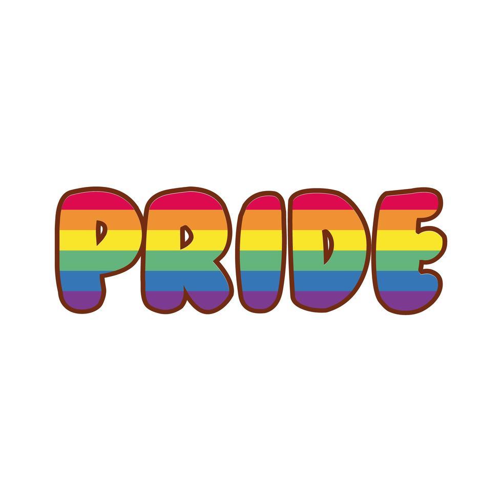 fierté aux couleurs de la fierté gay vecteur