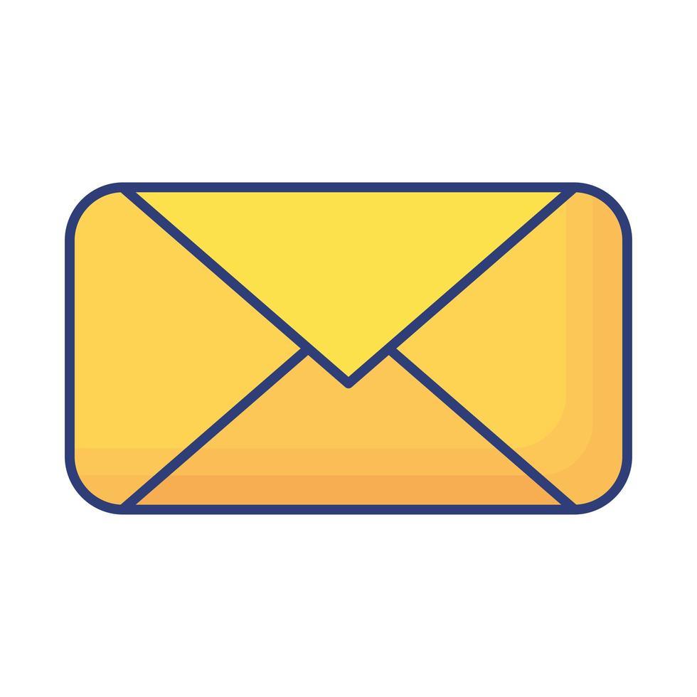 icône de style plat enveloppe courrier vecteur