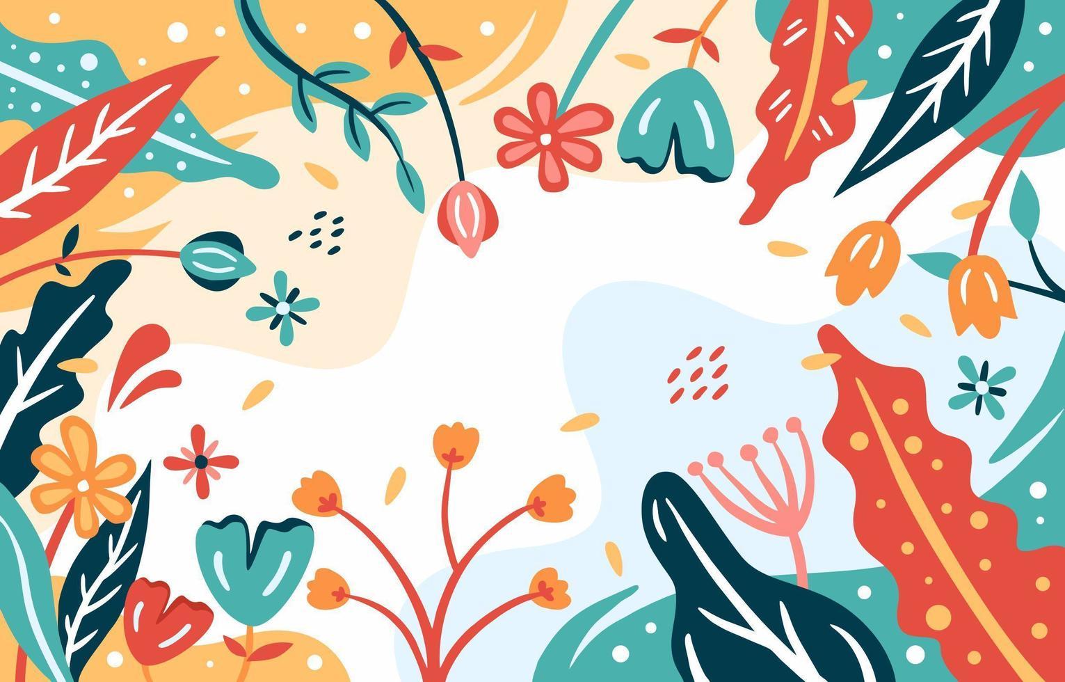 fond floral abstrait moderne vecteur