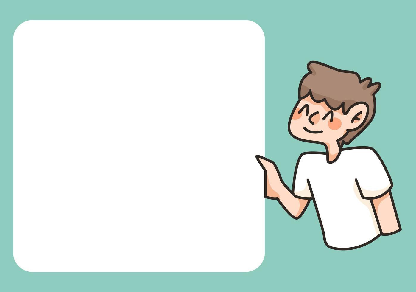 retour à lécole bloc-notes illustration de dessin animé mignon vecteur