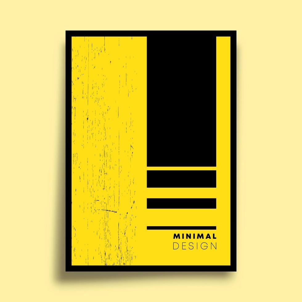 conception géométrique jaune minimale pour affiche vecteur
