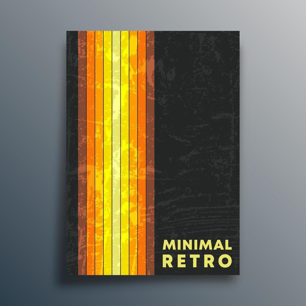 lignes et couverture de conception de texture rétro vecteur