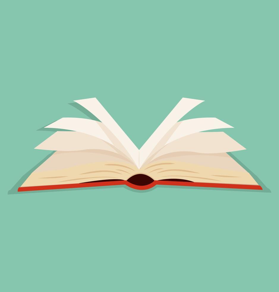 icône de livre ouvert vecteur