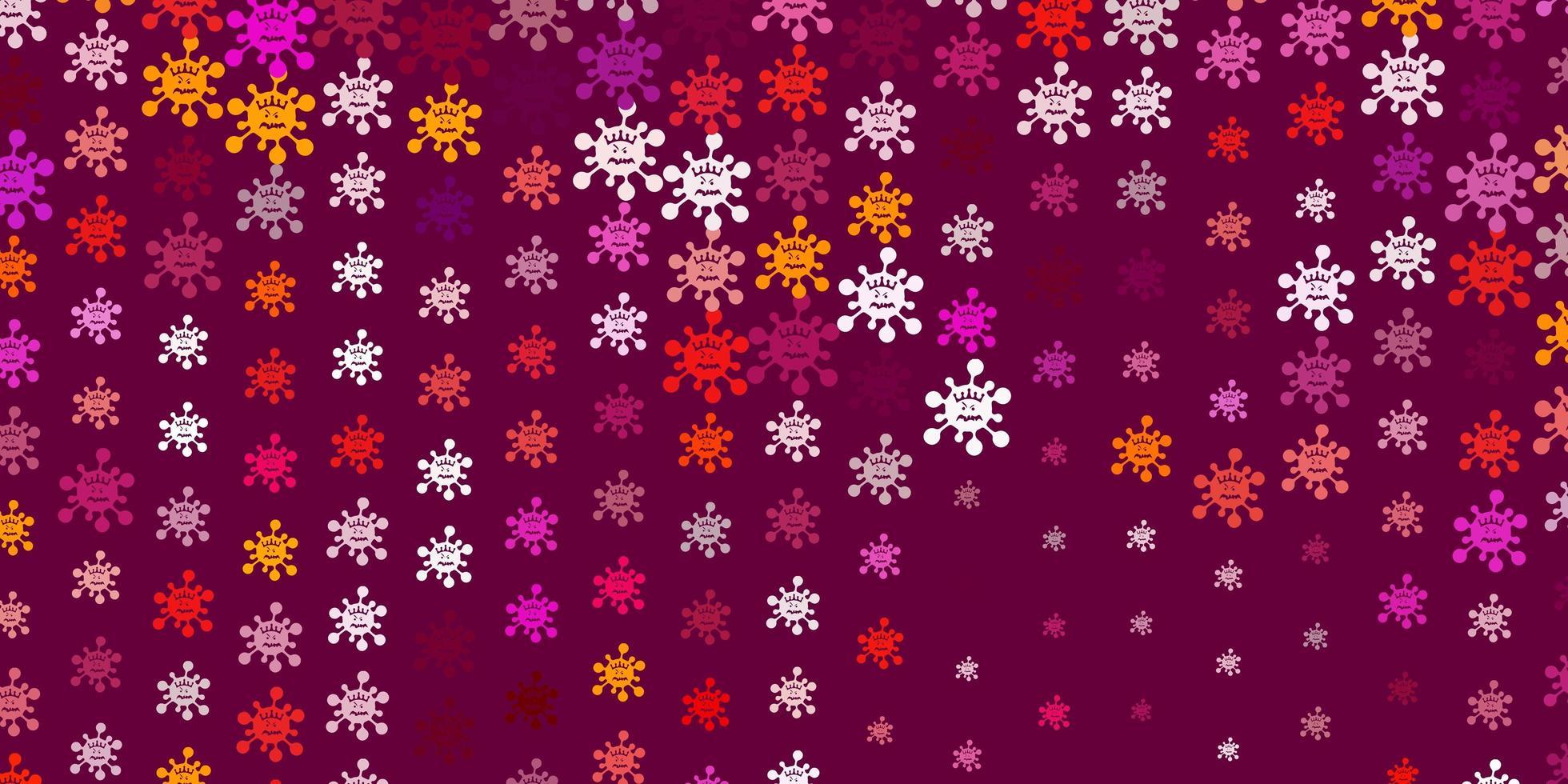 texture de vecteur rose clair, rouge avec des symboles de la maladie.