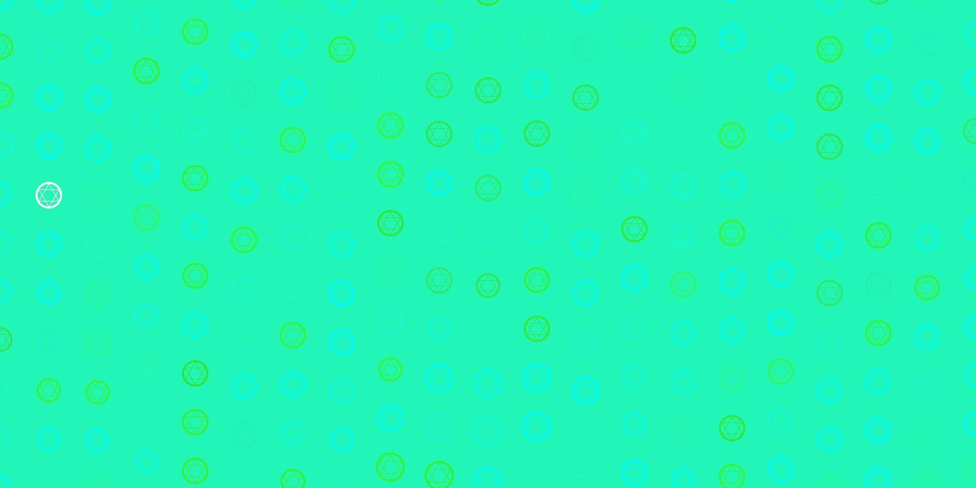 texture vecteur vert clair avec symboles de religion.