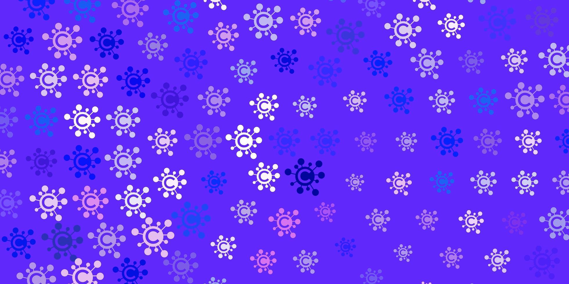 modèle vectoriel rose clair, bleu avec des signes de grippe.