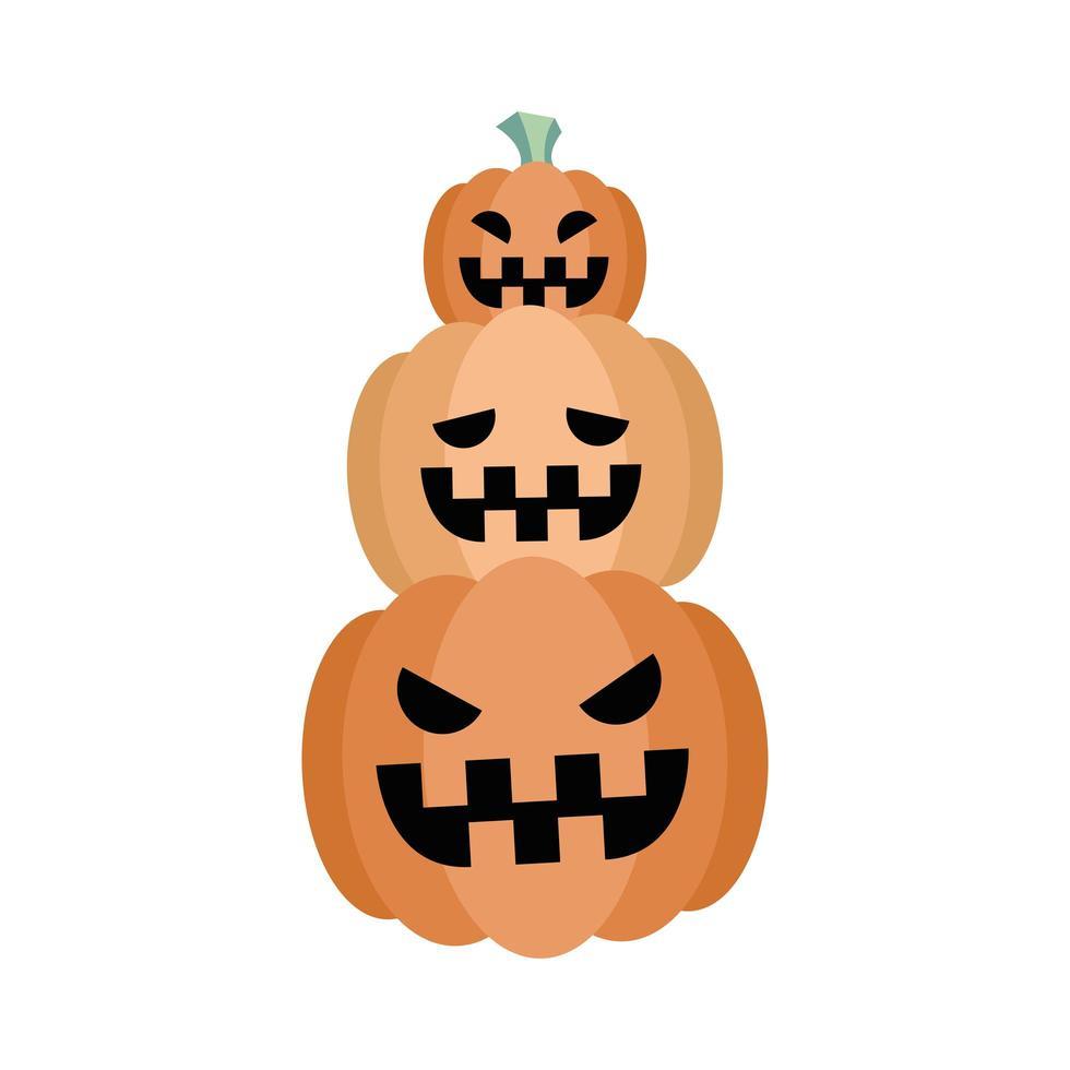 conception de vecteur de dessins animés halloween citrouilles