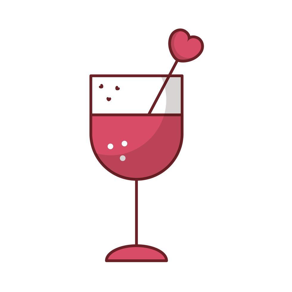 bonne tasse de saint valentin avec coeur vecteur