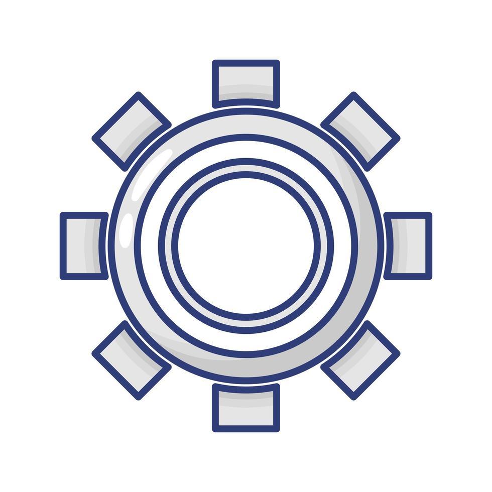 icône de style plat de réglage de vitesse vecteur