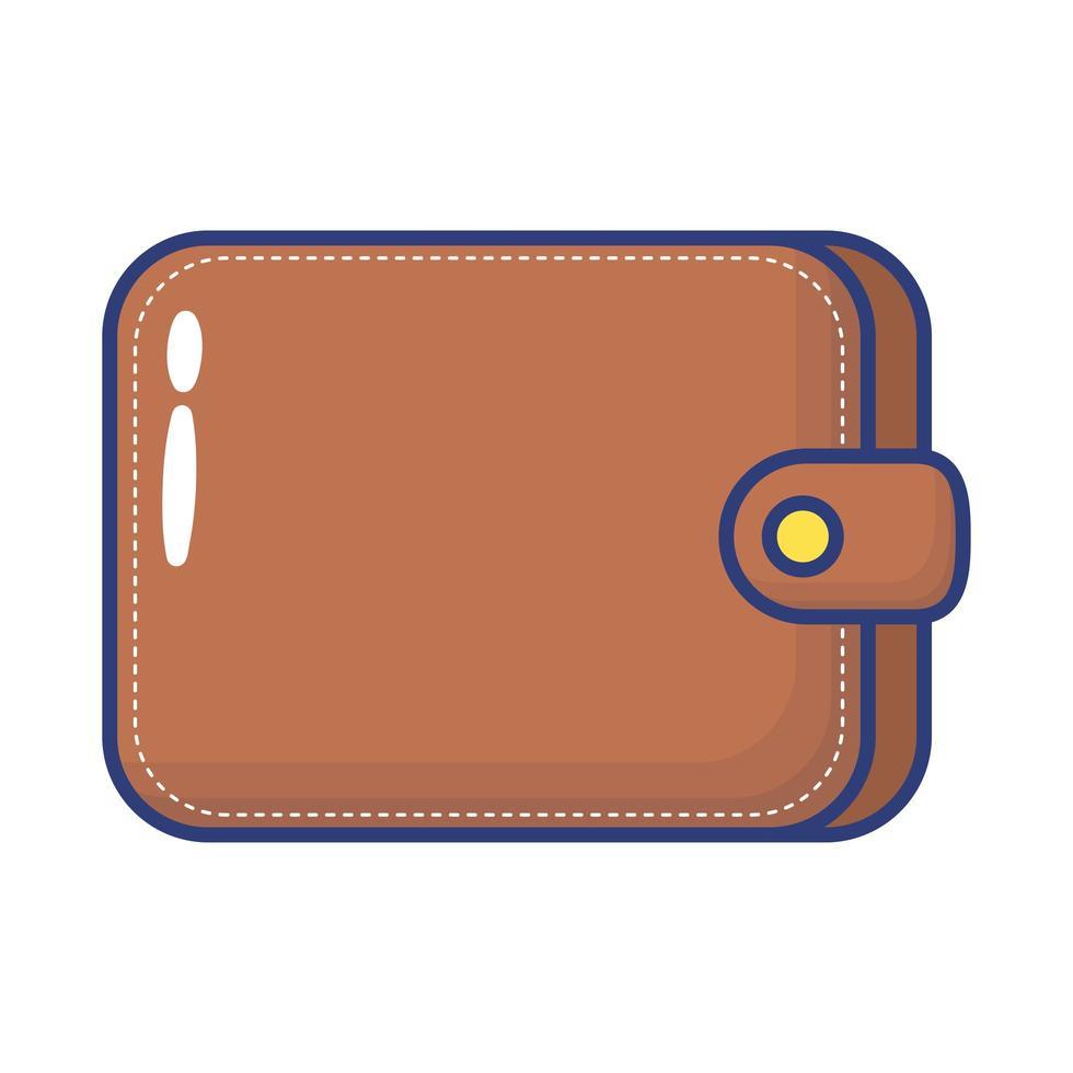 icône de style plat portefeuille argent vecteur