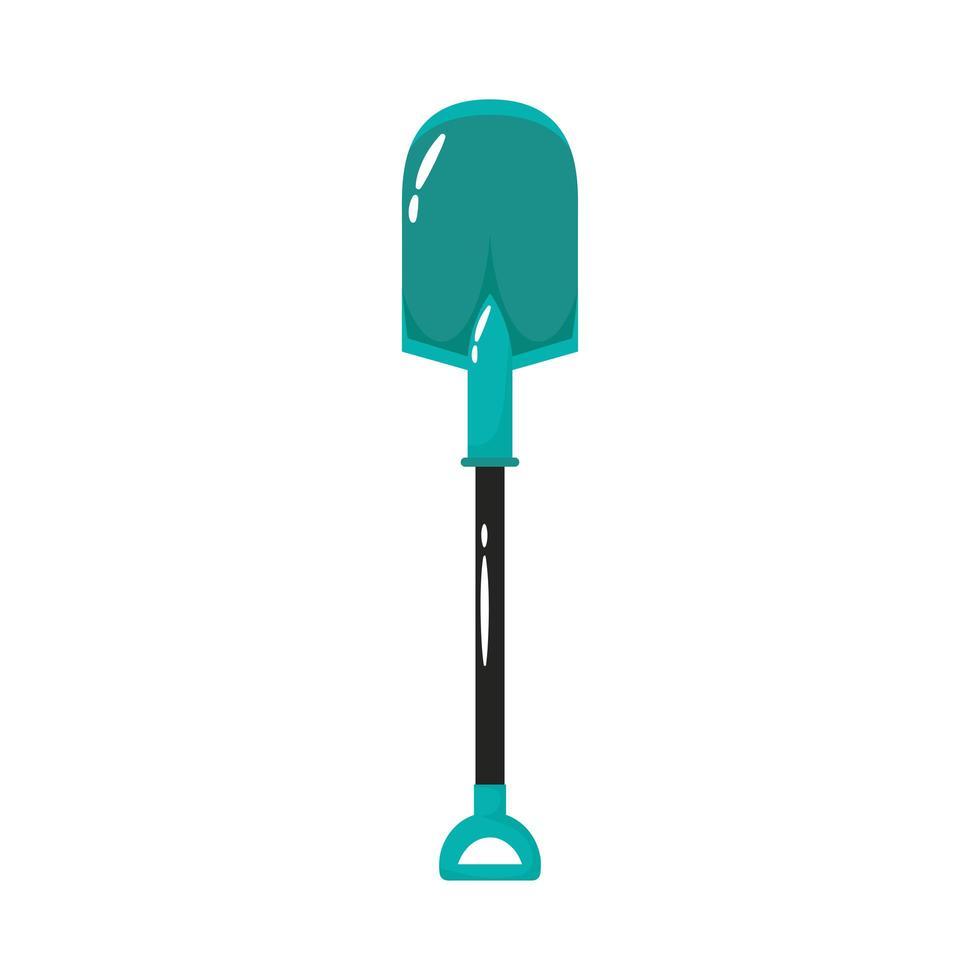 icône de style plat outil de jardinage pelle vecteur