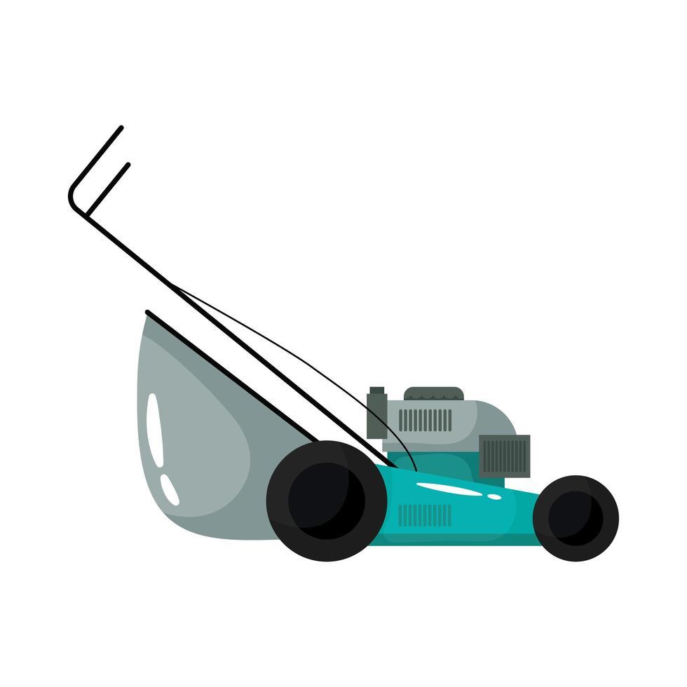 icône de style plat outil de jardinage tondeuse à gazon vecteur