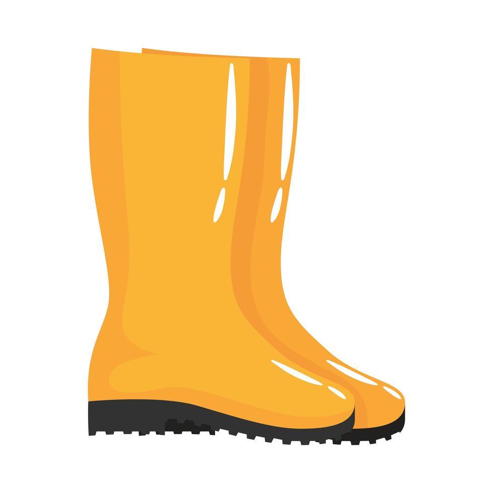 icône de style plat bottes de jardinage vecteur
