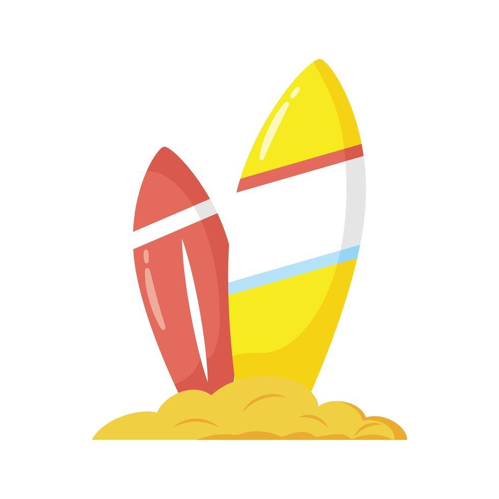 icône de style plat de planches de surf vecteur