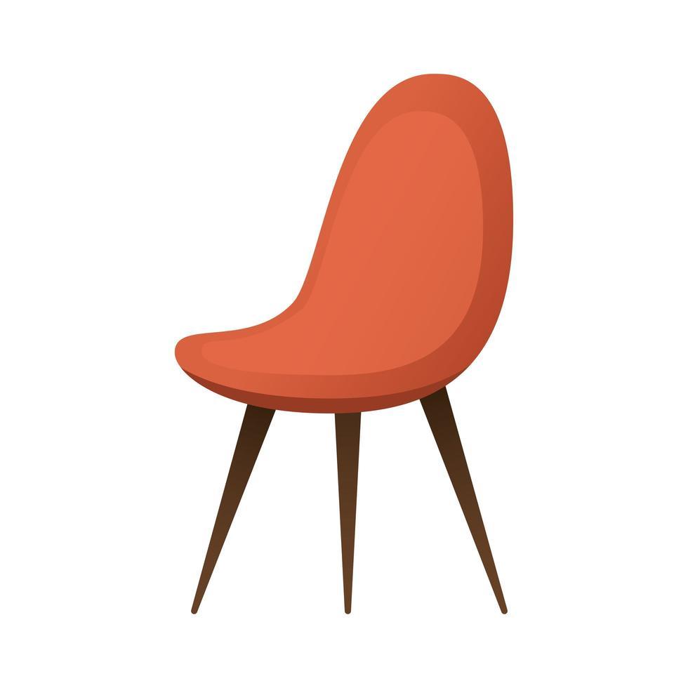 Meubles de chaise rouge icône isolé vector illustration design