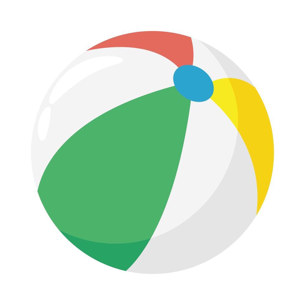 icône de style plat ballon de plage vecteur