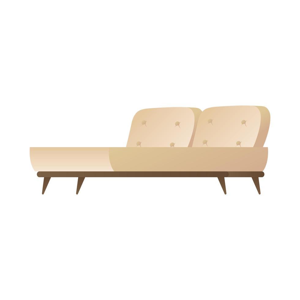 Icône isolé de meubles confortables de lit vecteur