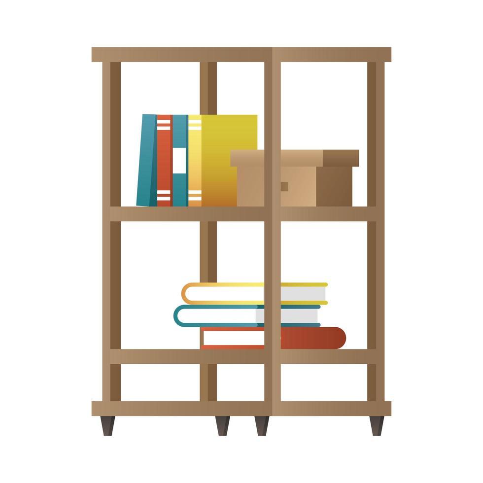 illustration vectorielle de bibliothèque icône vecteur