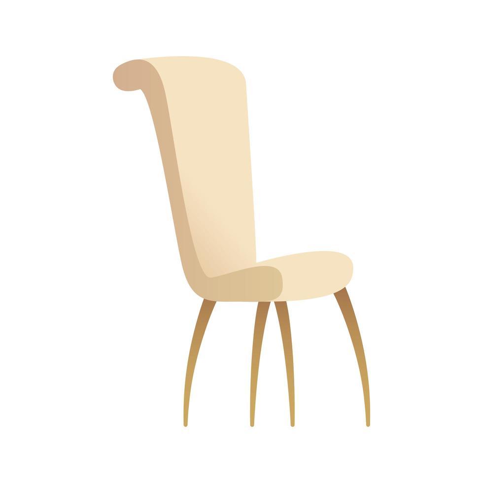 Chaise de maison blanche icône isolé vector illustration design