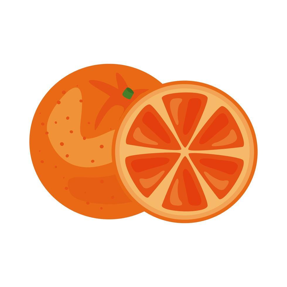 icône de nourriture saine fruits frais orange vecteur
