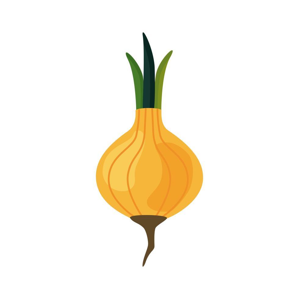 icône de nourriture saine légume oignon frais vecteur
