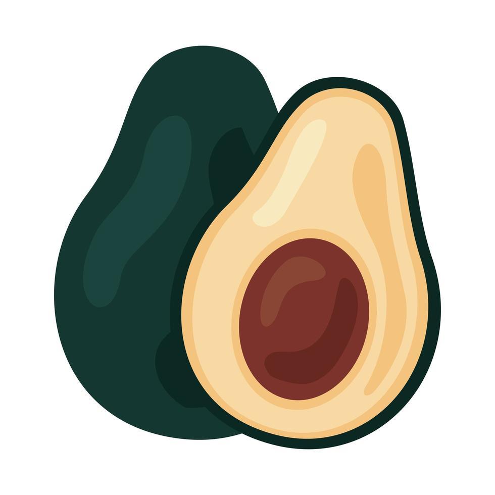 icône de nourriture saine légumes frais avocats vecteur