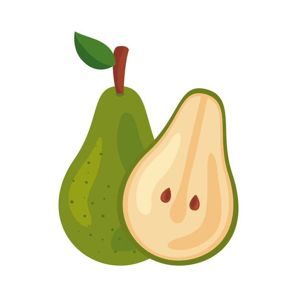 Icône de nourriture saine de fruits frais de poire vecteur