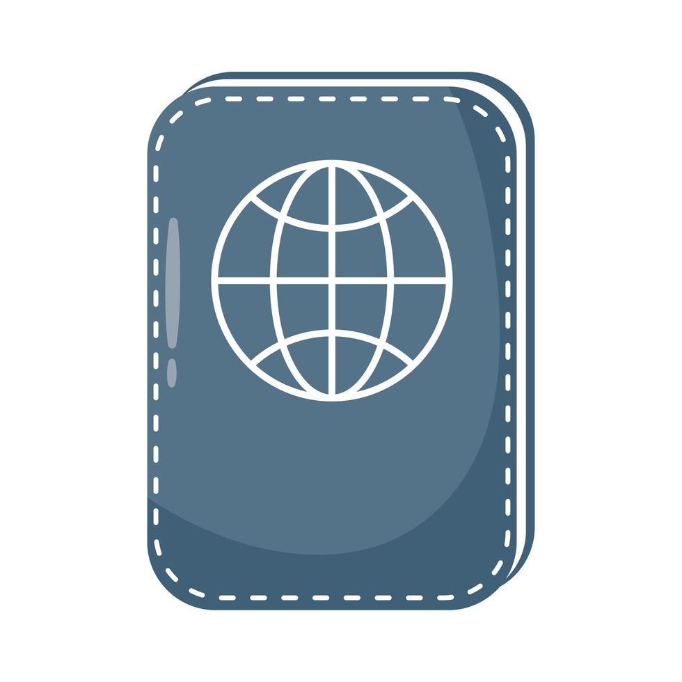 icône de style plat de document de passeport vecteur