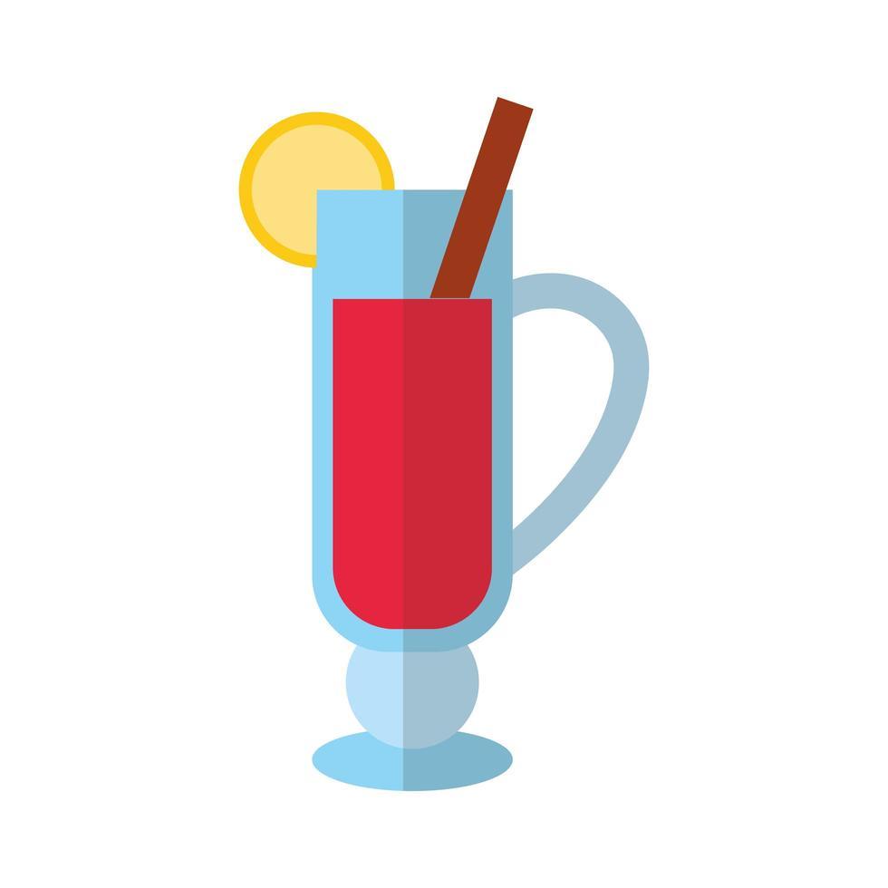 icône de style plat cocktail joyeux noël vecteur