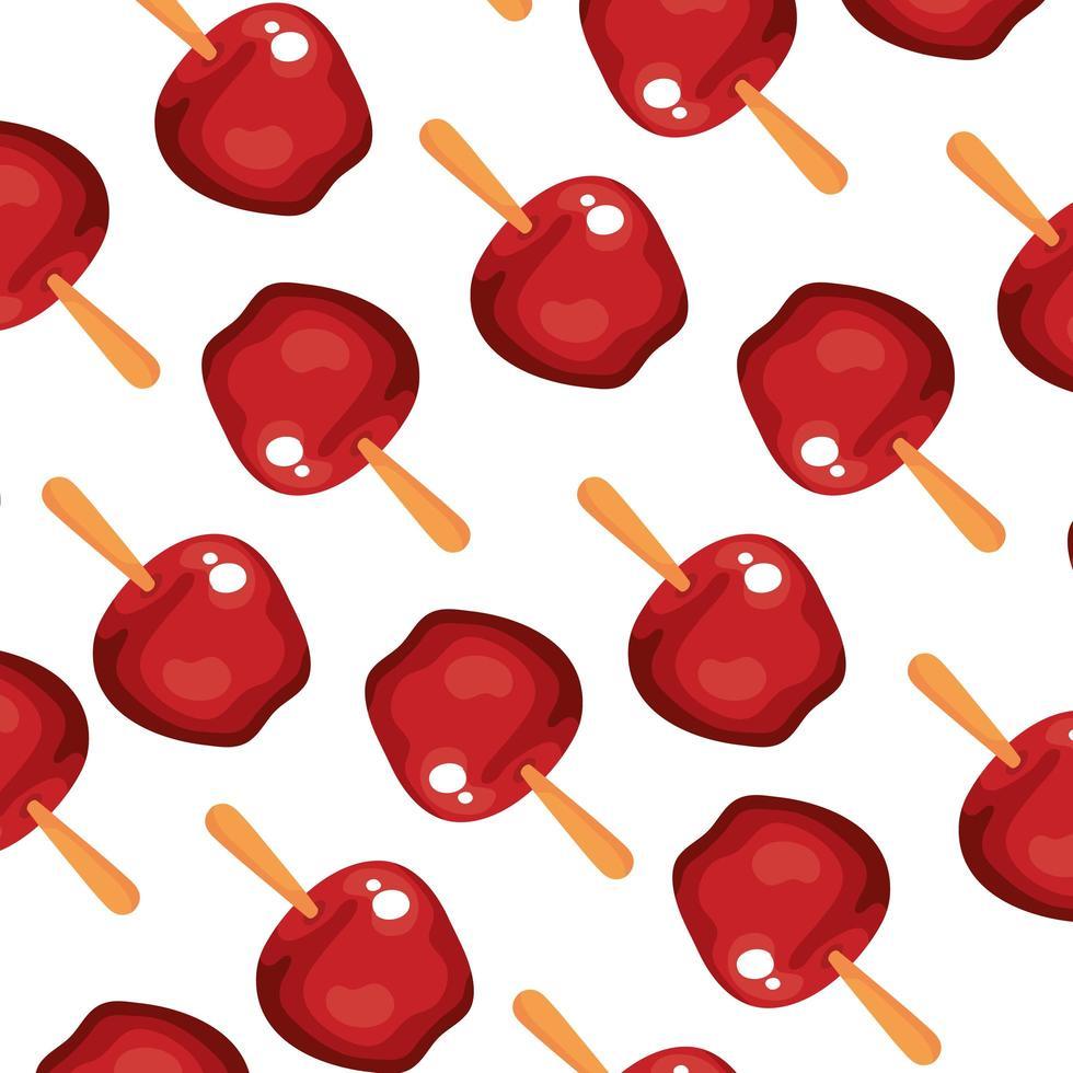 fond de délicieuses pommes de bonbons vecteur