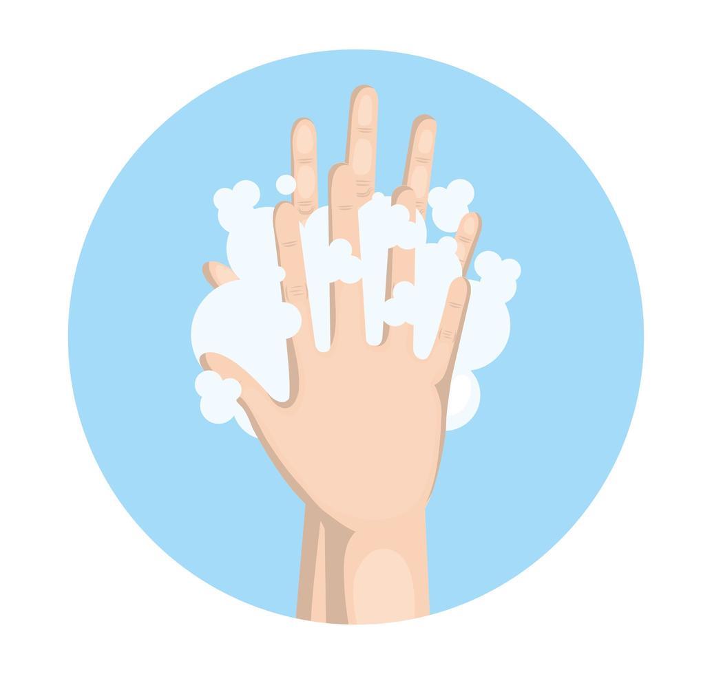 laver les mains avec la conception de vecteur de savon