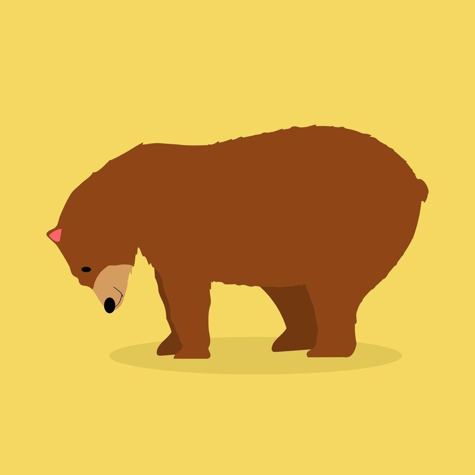 vecteur ours brun solitaire