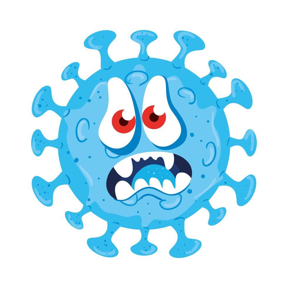 conception de vecteur de dessin animé de virus covid 19