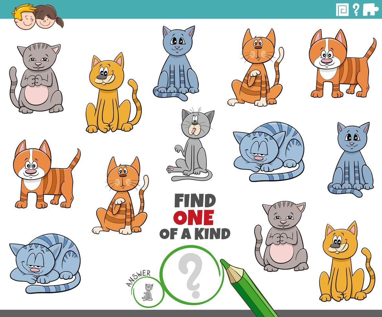 une tâche unique pour les enfants avec des chats vecteur