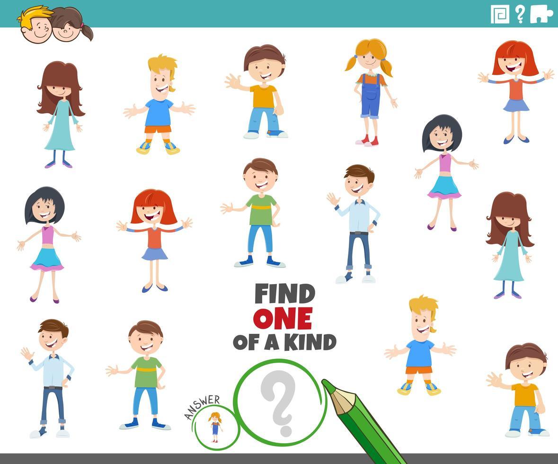 tâche unique avec des personnages enfants vecteur