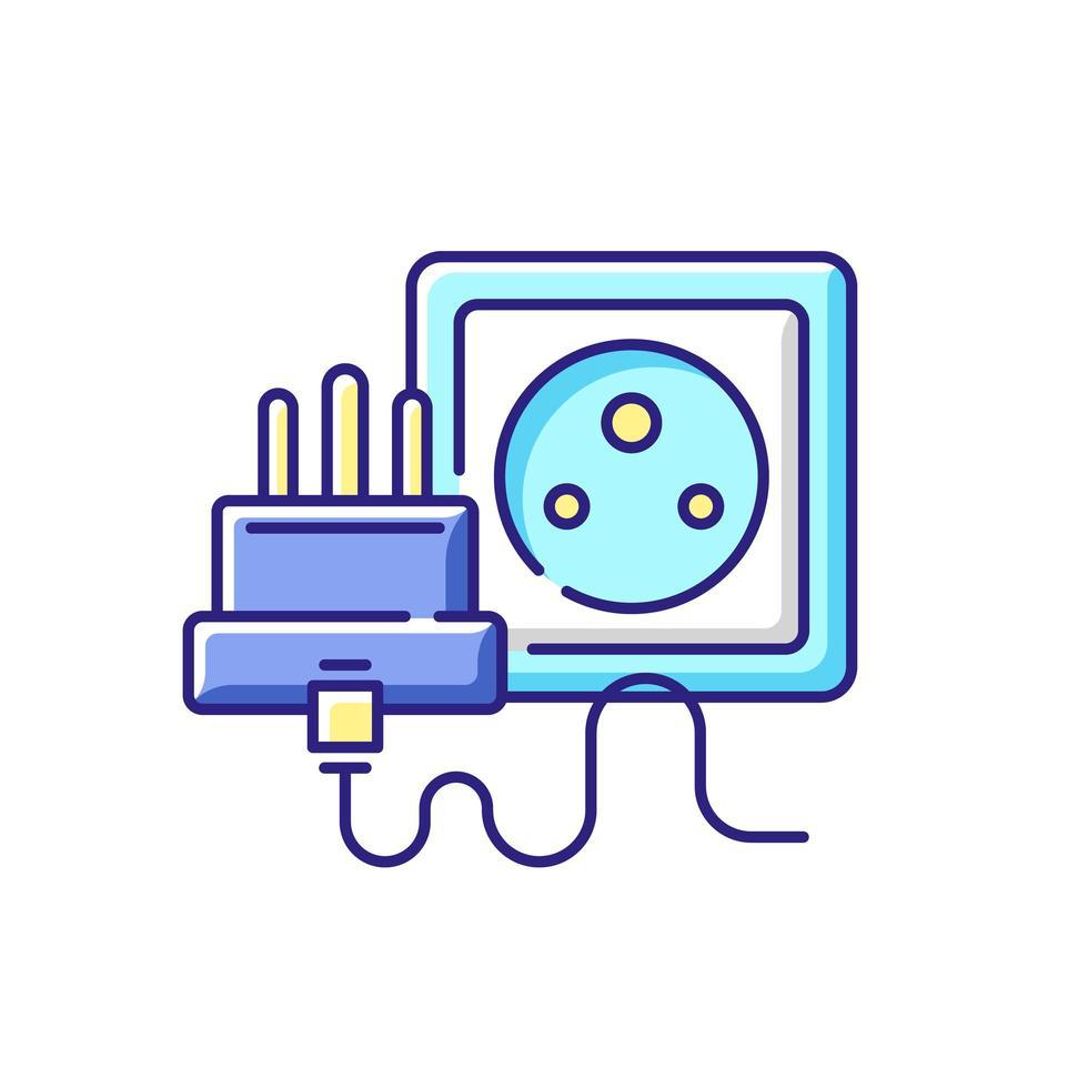 icône de couleur rgb socket vecteur