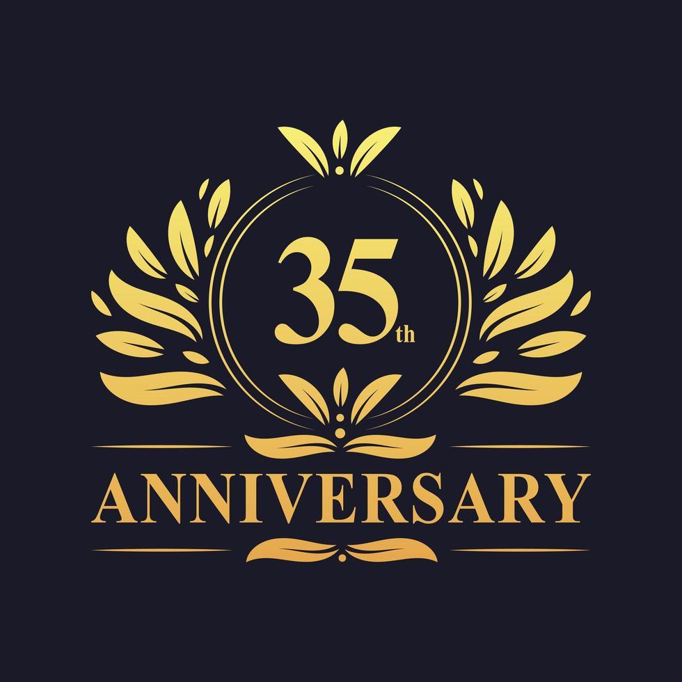 Conception du 35e anniversaire vecteur