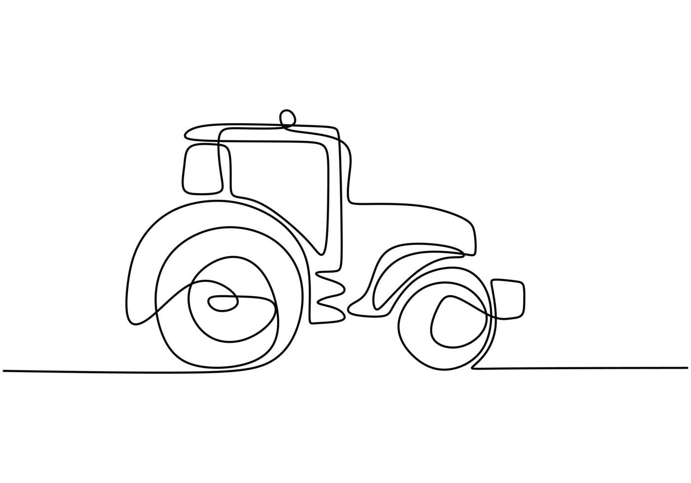 dessin au trait continu de voiture de course vintage conduite sur route poussiéreuse. vieille voiture auto vintage rétro. vecteur