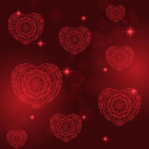 Fond de coeur décoratif Valentin vecteur