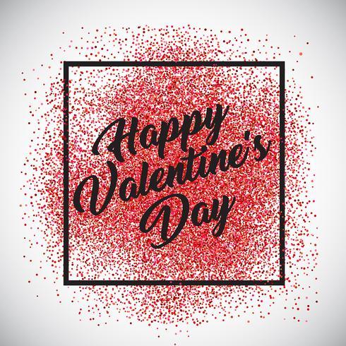 Fond de confettis de la Saint-Valentin vecteur