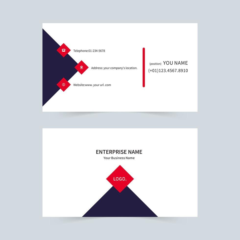 carte de visite de vecteur daffaires noir et rouge