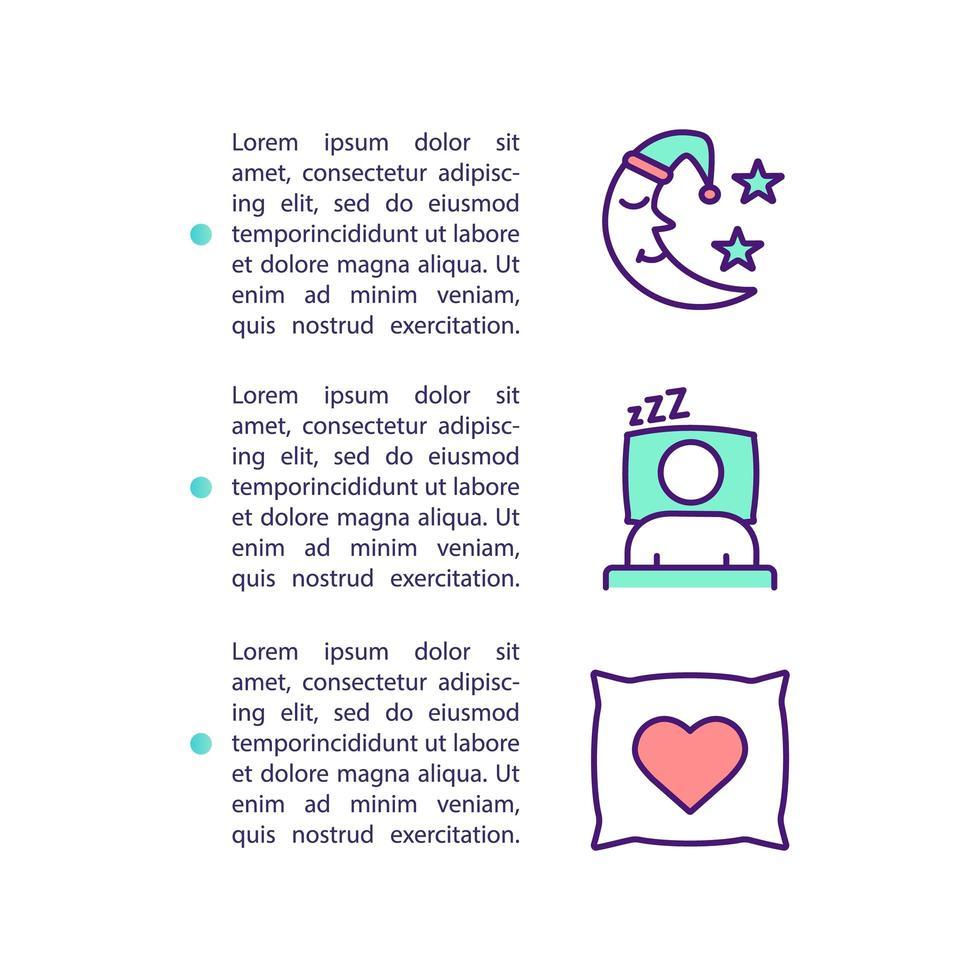 icône de concept d & # 39; amélioration du sommeil avec texte vecteur