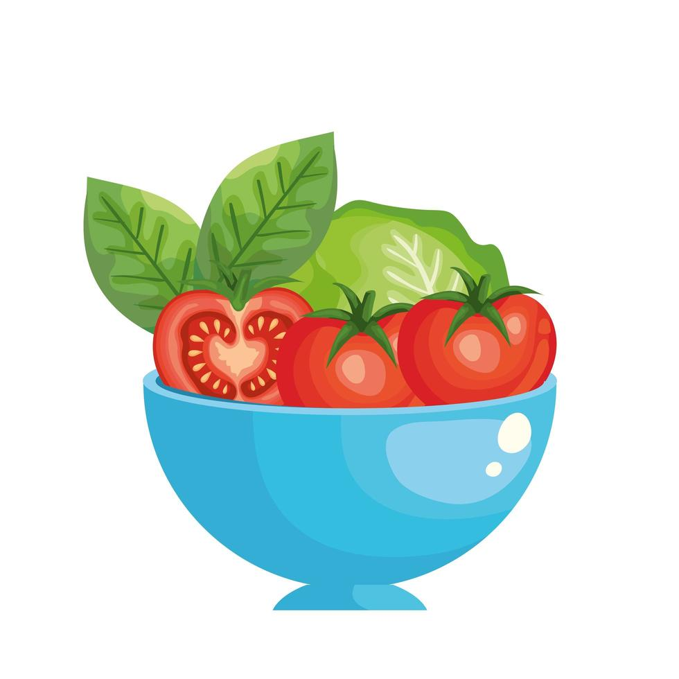 icône isolé de légumes tomates fraîches vecteur