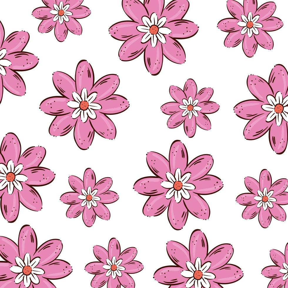 fond de fleurs mignonnes couleur rose vecteur